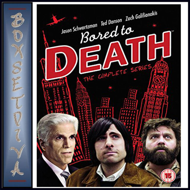 BORED TO DEATH - COMPLETE SERIES 1 2 & 3 *BRAND NEW DVD BOXSET***