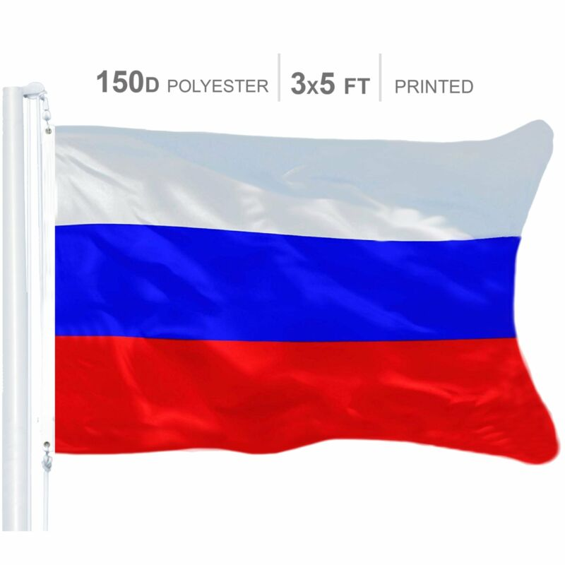Russia (Russian) Flag 150D Printed Polyester 3x5 Ft