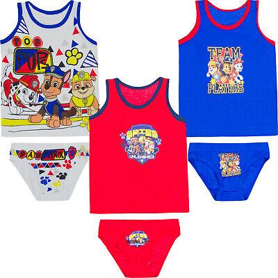 Paw Patrol Unterwäsche Set Slip & Hemd für Jungen Gr. 92/98 104/110 116/128