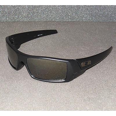 3494e362f2 New Oakley Gascan Sunglasses Matte Black Black Iridium POLARIZED USA Gas Can