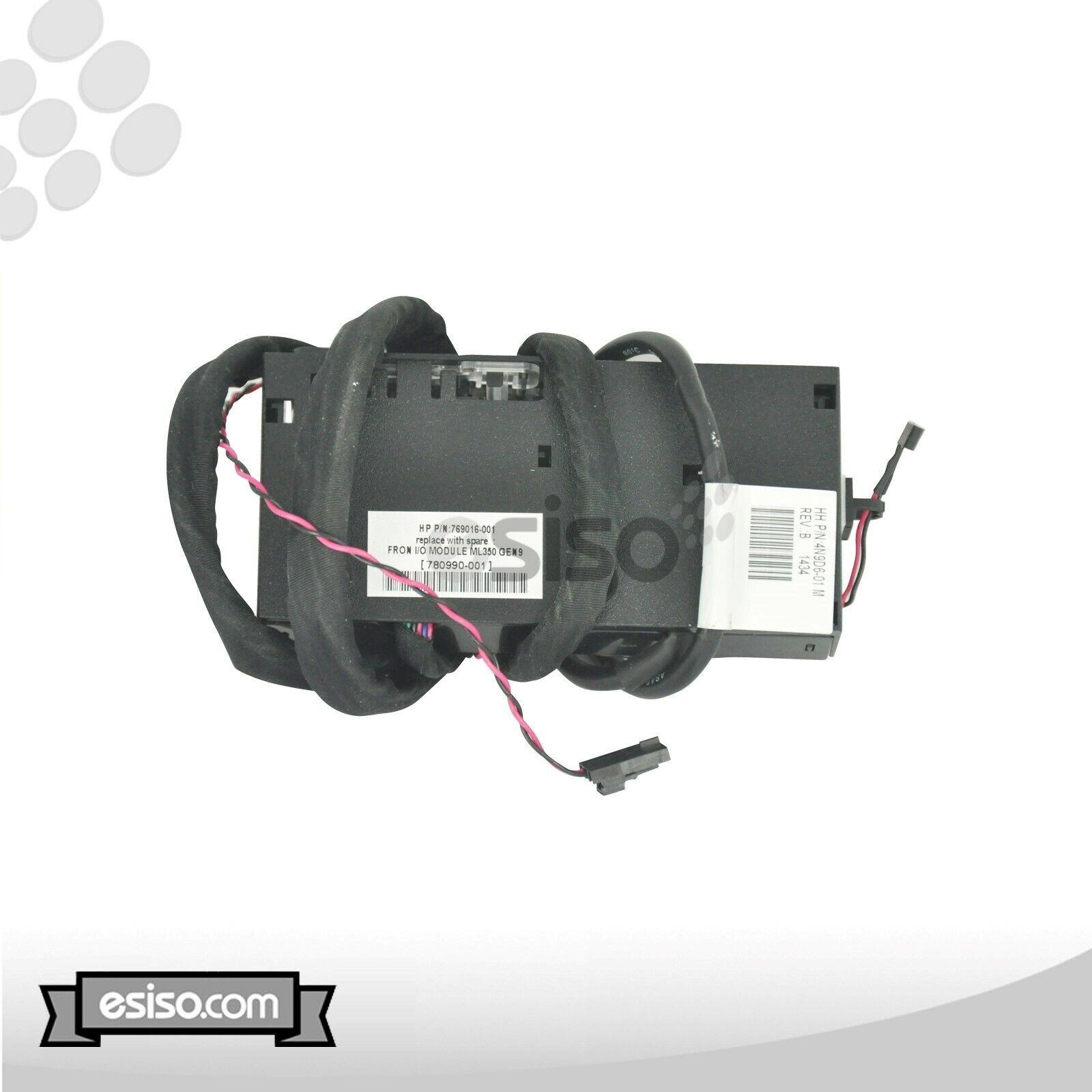 780990-001 769016-001 HPE PROLIANT ML350 G9 FRONT IO MODULE