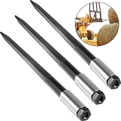 3pcs 39 Square Hay Bale Spear 3000lbs Capacity 1 34 Wide Skidsteer Spike Fork