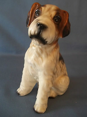 Vtg Airedale Fox Terrier Puppy Dog Canine Decorative Figurine Mans Best Friend