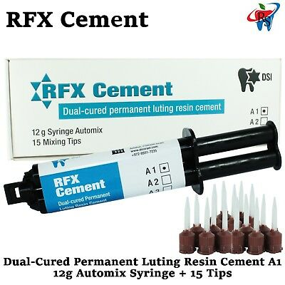 Dental Rfx Resin Permanent Radiopaque Crown Bridge Cement 12g Automix A1
