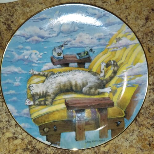 Danbury Mint Collectors Plate-Cat Day Afternoon by Gary Patterson Comical