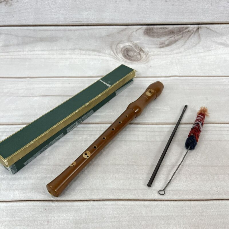 HOHNER WOOD RECORDER With Box & Cleaning Tools  GERMANY