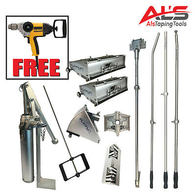 Platinum Drywall Finishing Set W10 12 Boxes - Free Dewalt Mixer Paddle