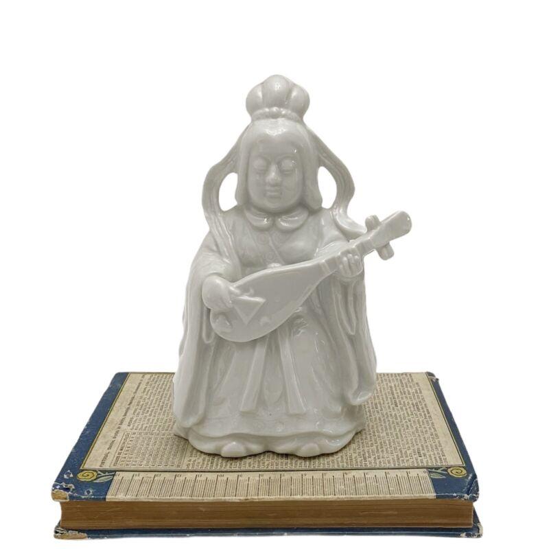 VTG White Porcelain Chinoiserie Benzaiten Goddess Japanese 7 Lucky Gods Figurine