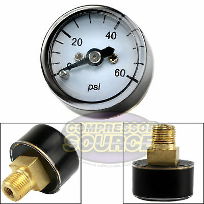1 8  Mnpt Mini   Micro Air Pressure Gauge 0 60 Psi 1  Face Cbm Center Back Mount