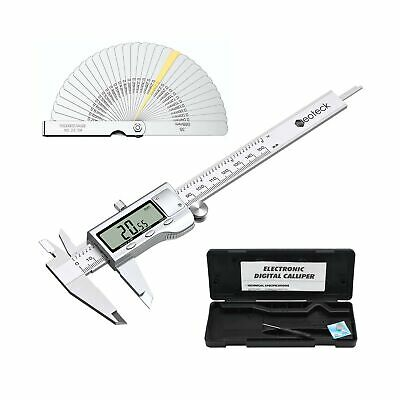 Neoteck 6 Inch Digital Caliper And Feeler Gauge Set Stainless Steel Electron...