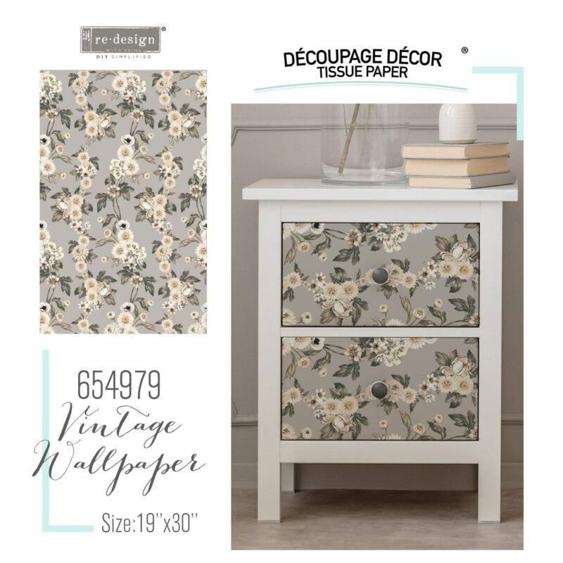 "Vintage Wallpaper   Décor Decoupage Tissue   Redesign with Prima 19""x30"""