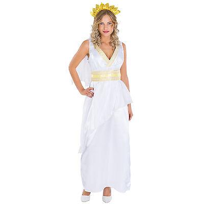 Frauenkostüm Göttin Caesar Kostüm Römerin Karneval Fasching Halloween (Frau Caesar Kostüm)