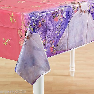 ENCHANTED PLASTIC TABLE COVER ~ Disney Princess Birthday Party Supplies Decorate (Disney Princess Table Cover)
