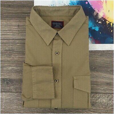UNTUCKit Slim Fit Shirt Mens Long Sleeve Button Down Size M Safari -