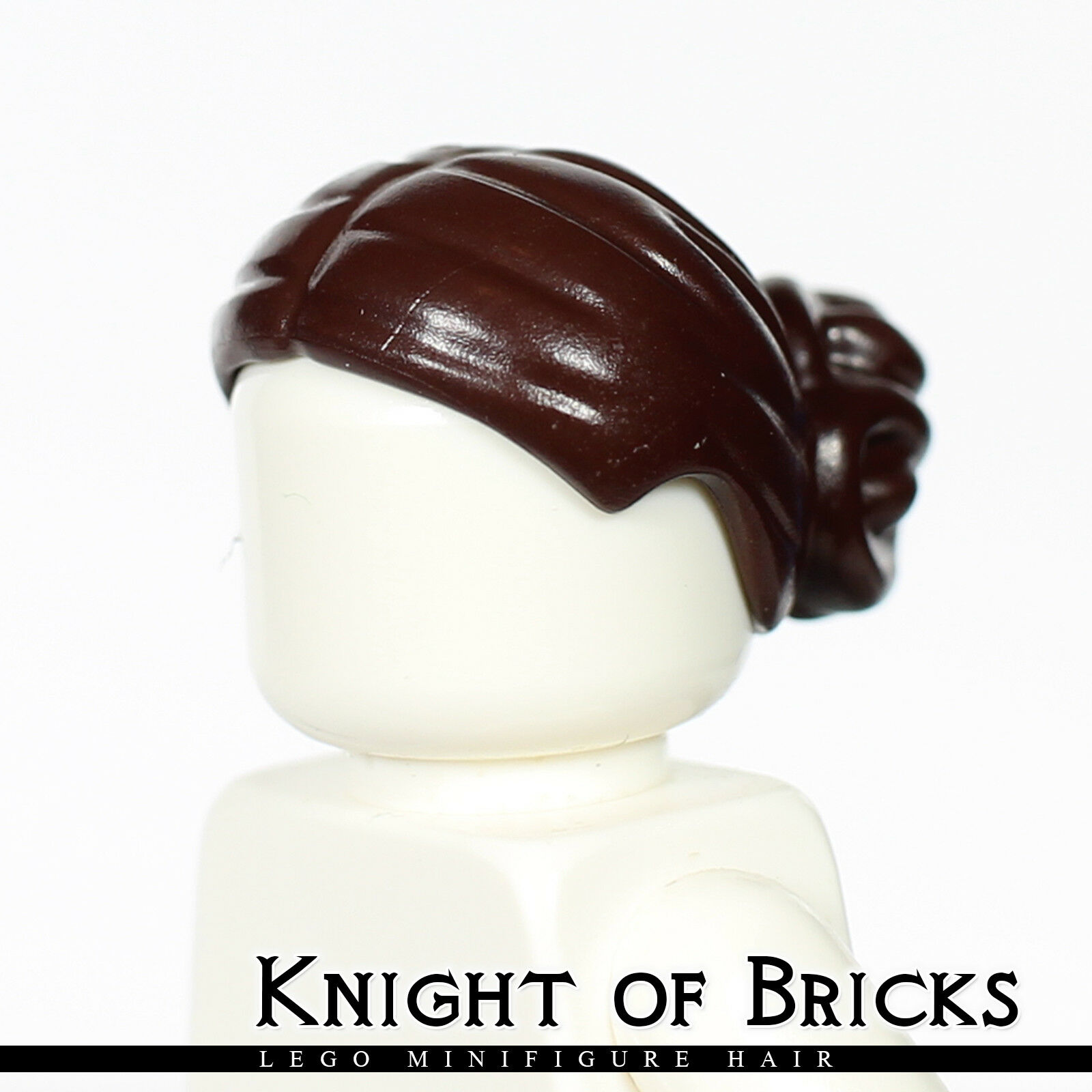 Female NEW LEGO Padme Amidala Dark Brown Elaborate Knot Bun Figure Hair