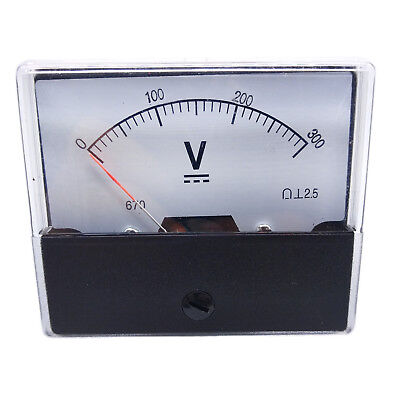 Us Stock Analog Panel Volt Voltage Meter Voltmeter Gauge Dh-670 0-300v Dc