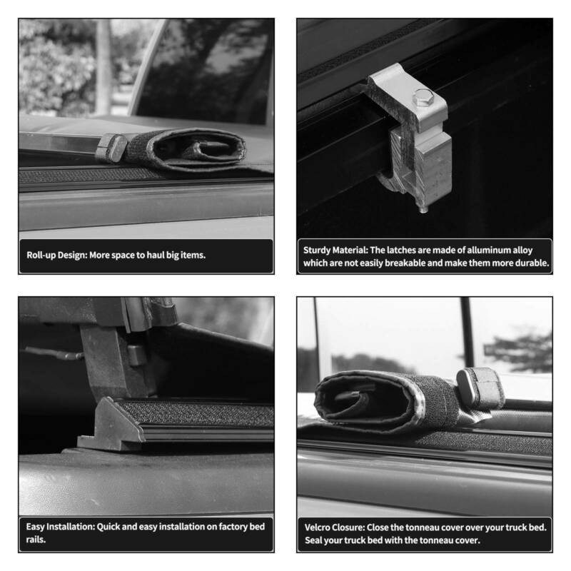 Soft Roll Up 5 5ft Bed Tonneau Cover For 2015 2020 Ford F150 F 150 Supercrew Cab Ebay