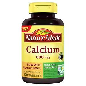 Nature Made Calcium with Vitamin D 600 mg, D3 400 IU Supplem