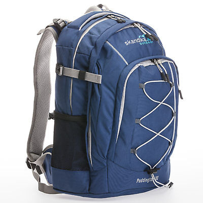 Skandika Paddington 30 Liter Wander-Rucksack Daypack blau/grau NEU