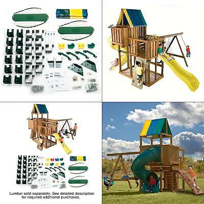 do-it-yourself kodiak custom playset | hardware kit swing kids not playground - Playground Kit
