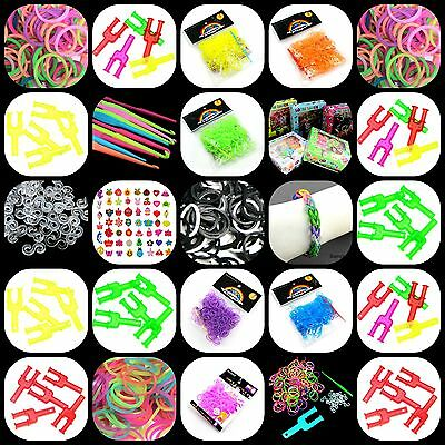 New Colourful Rubber Band Loom Making Kit S-Clips Y - Tool Hook & Bands Inc ML - Rubber Band Loom Kit