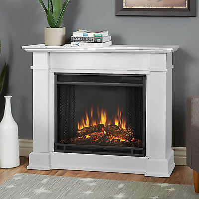 RealFlame Devin Electric Fireplace Heater White or Dark Espresso