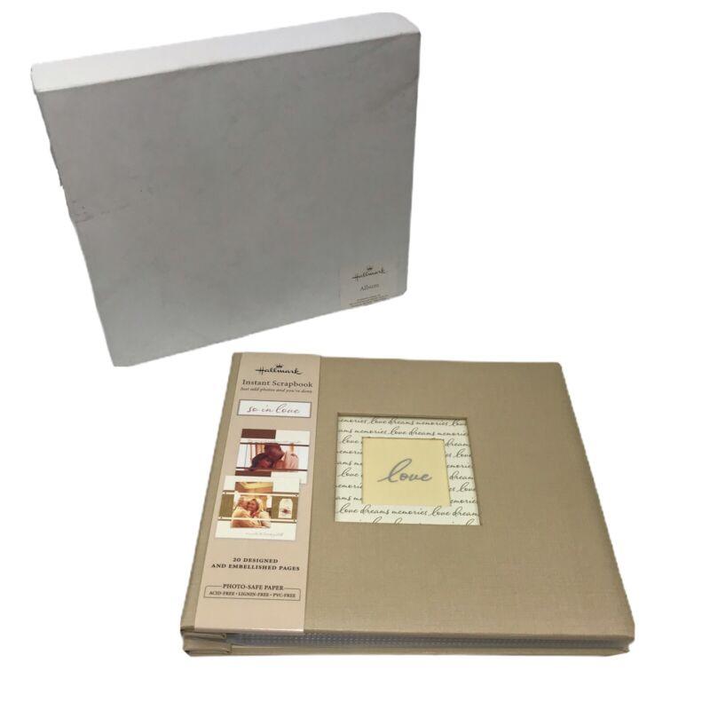 Hallmark Instant Scrapbook Album - So In Love - 20 Designed Pages - Brand New