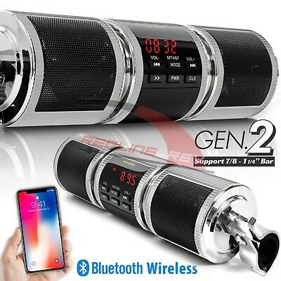 Waterproof Bluetooth Motorcycle Stereo Speakers Audio System USB AUX SD FM Radio