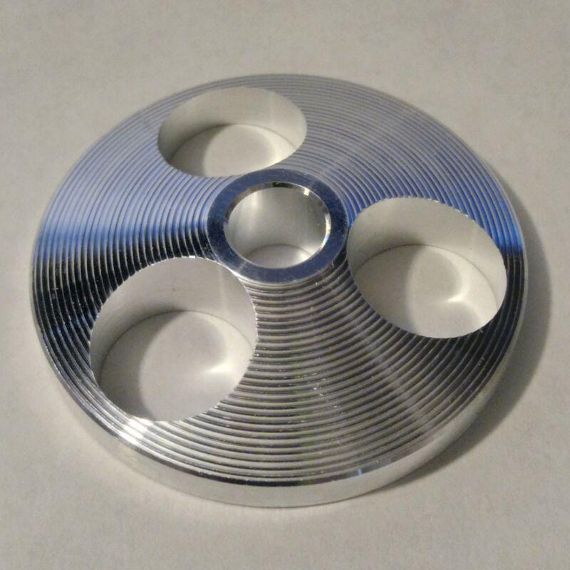 45 RPM ALUMINUM DISC RECORD ADAPTOR SOLID MACHINED PREMIUM GRADE