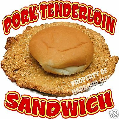 Pork Tenderloin Sandwich Concession Food Truck Vinyl Menu Sticker Decal 14