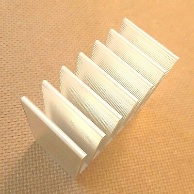 2 Inch Heat Sink Aluminum Serrated 2 X 1 X 1.7 Inches. Low Thermal Resistance