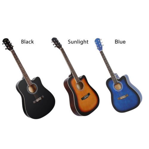 41″ Full Size Beginner Acoustic Guitar Set with Case Strap Strings Tuner Guitar Acoustic Guitars