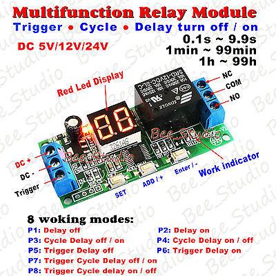 Dc5v 12v 24v Multifunction Digital Time Infinite Delay Switch Timer Relay Module