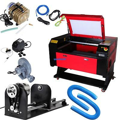 60w Co2 Laser Engraving Cutting Machine Engraver Cutter Usb W Cnc Rotary A-xis