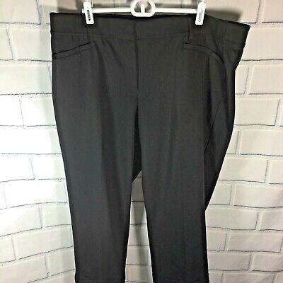 Cuffed Capri Hose (Lane Bryant Modernist Black Crop Pants Cuffed Capri Plus size 20 NWOT (S93))