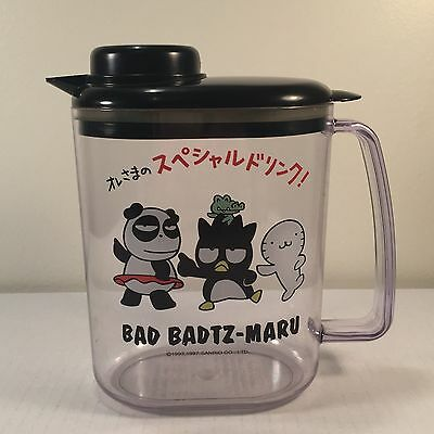 Vintage 90s Bad Badtz Maru Plastic Water Pitcher 1997 Sanrio Pandaba Hana Pochi