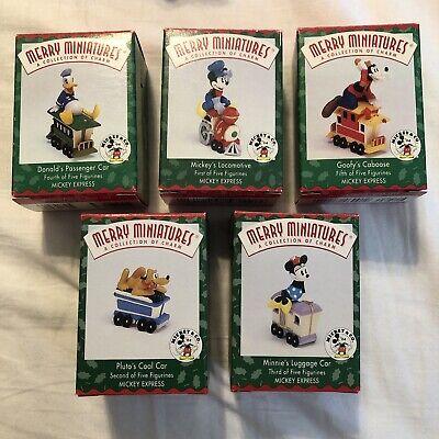 Hallmark Disney Merry Miniatures 5 Pc Mickey and Friends Train Set Donald Pluto