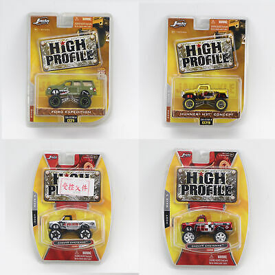 4pc Set 1/64 Jada HIGH PROFILE CAR MODEL DIE CAST COLLECTION Ford Expedition