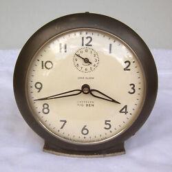 Vintage Westclox Big Ben Wind Up Loud Alarm Clock Style 6 1949-1956 Mid Century