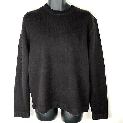 Banana Republic Mens L Sweater Lambswool Cashmere brown pullover New elbow patch