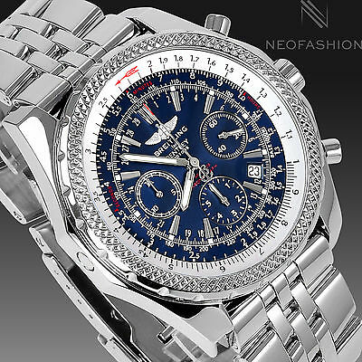BREITLING BENTLEY MOTORS SS 48MM SPECIAL EDITION BLUE DIAL MENS WATCH A25362