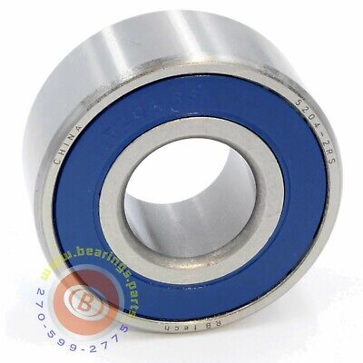 5204 2rs Double Row Sealed Angular Contact Bearing 20mm X 47mm X 20.6mm