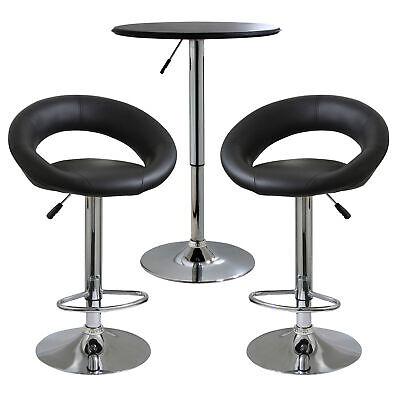 AmeriHome BSSET30 Classic Relaxed Bistro Set - 3 Bar Stool & Table Piece