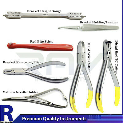 Dental Bracket Orthodontic Instruments Kit Surgical Distal Tc Hard Wire Cutters