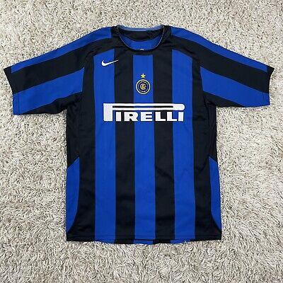 NIKE 2005/2006 Inter Milan 90 Pirelli Striped Soccer Futbol Jersey Kit Medium image