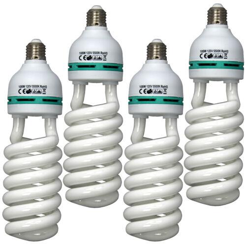 4X-Pk Photo Video Studio 105W 5500K Lighting Daylight Lamp Bulb Continuous Light