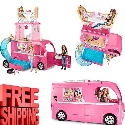 Barbie Camper House Car Vehicle Furniture Accessories Dream Doll Playset Pop Up