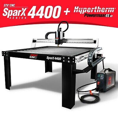 Stv Cnc Sparx-4400 4x4 Plasma Cutting Table Hypertherm Powermax45 Xp Machine