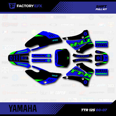 Green Shift Racing Graphics Kit fit 00-07 YAMAHA TTR125 Sticker Decal TTR 125