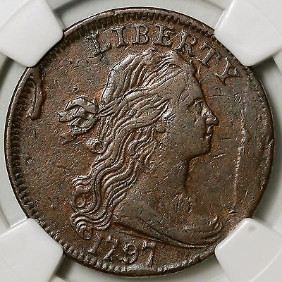 1797 S-131 R-2 NGC EXTRA FINE  DETAILS DRAPED BUST LARGE CENT COIN 1C